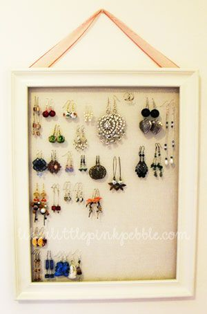 DIY jewelry board - full pictorial tutorial. Simple instructions.... in French but hey, it has pictures