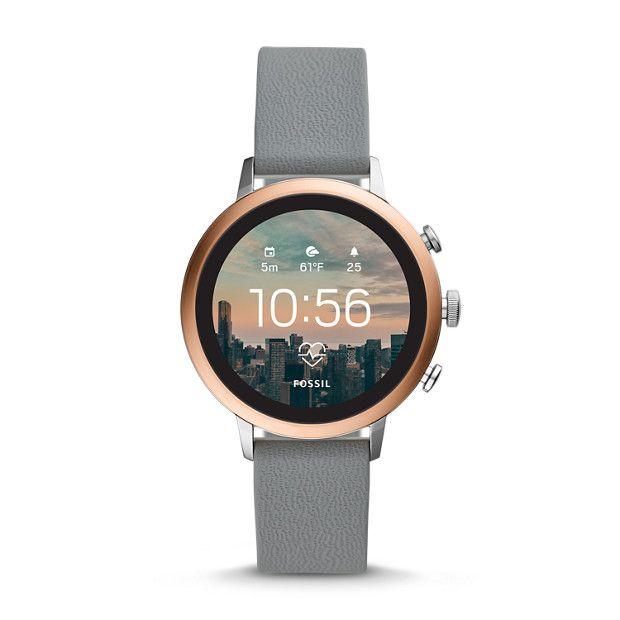 Damen Smartwatch Venture Hr 4 Generation Silikon Grau Fossil Smart Watch Smartwatch Women Smart Watch