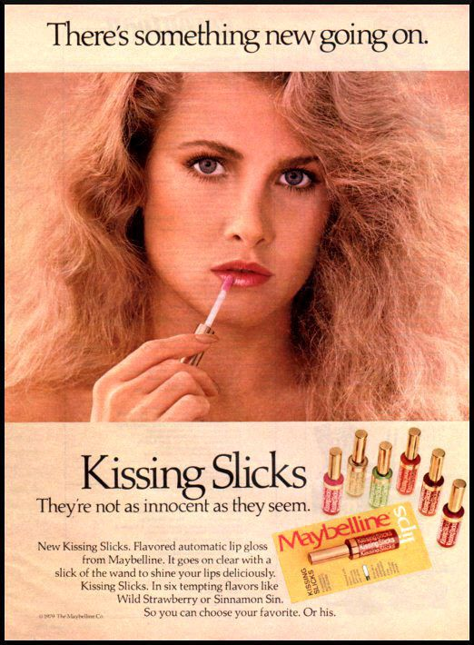 Maybelline owned my lips in the 80's, between this stuff, Kissing Potion, and Kissing Sticks (the lip balm).