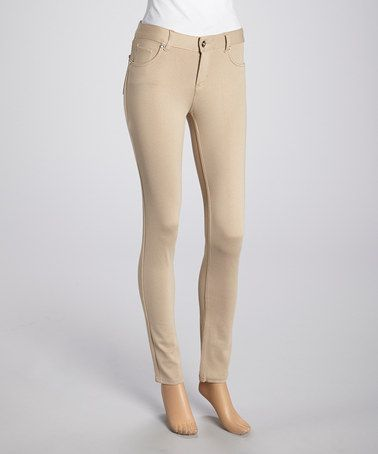 Another great find on #zulily! Khaki Skinny Pants by Magic Fit #zulilyfinds