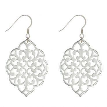 Foxy Originals Casablanca Earrings with filigree feel available in gold, silver and bronze.