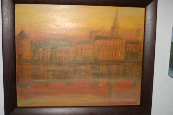 38. City Sunset, Oil on canvas, €70 (Sold) by Deirdre Hayden