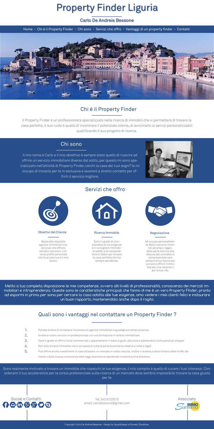 OnePage website with bootstrap3 EN: www.propertyfinderliguria.com IT: www.propertyfinderliguria.it