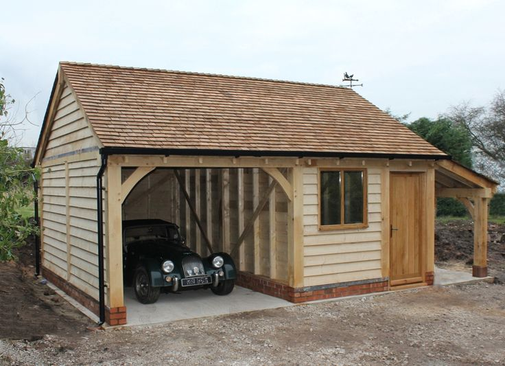 9 best 2 bay garages cheshire oak structures images on for Two bay garage