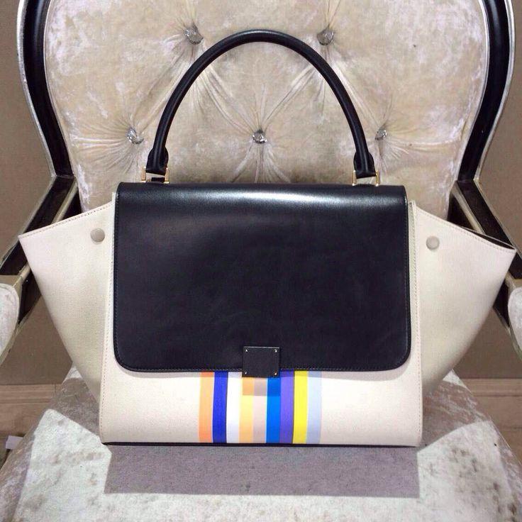 Celine Trapeze Luggage Boston Small 26cm Tote Bag Original Pebbled ...