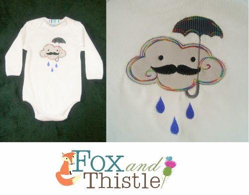 Embroidered baby bodysuit Onesie