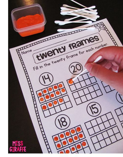 """Painting twenty frames and other great ideas from """"Building Number Sense in First Grade"""""""