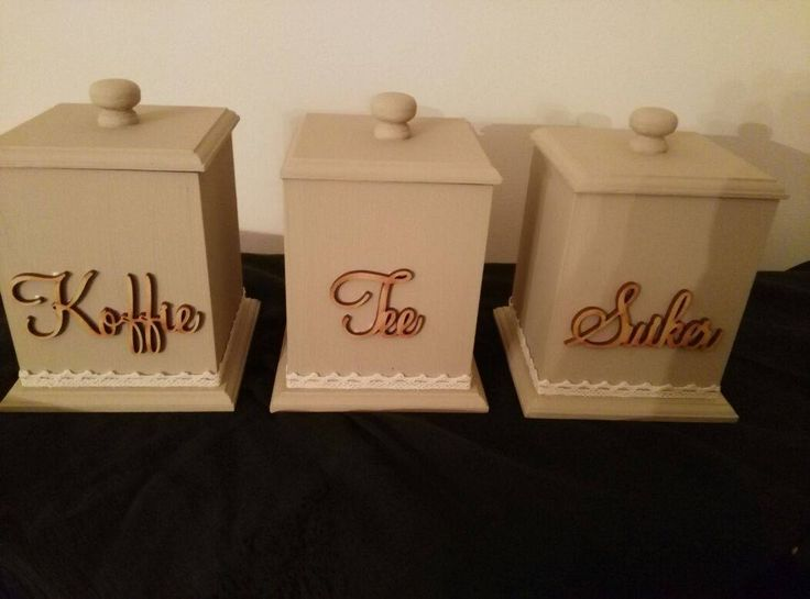Coffee Tea Sugar Holders - available in English and Afrikaans