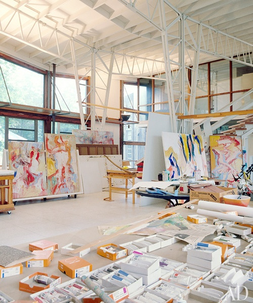 Willem de Kooning's studio in East Hampton: East Hampton, Willems The Kooning, Dekooning, Artists Studios, Kooning Studios, Studios Spaces, Art Studios, Workspaces, Willem De Kooning
