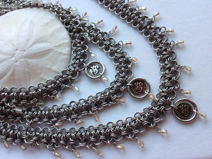 Yoga Meditation necklaces - Japanese style chainmaille.