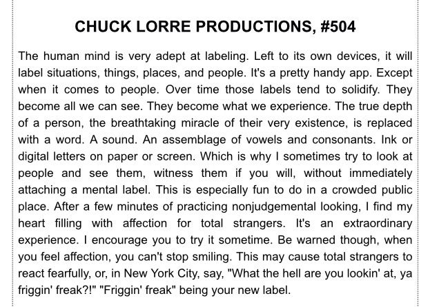 Chuck Lorre Vanity Cards #504