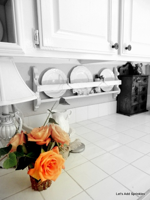 Plate rack for under cabinets!  Genius!