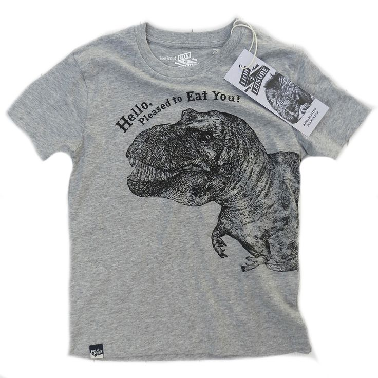 Lion of Leisure ◊ Dino T-shirt Grey www.cowboybilly.nl