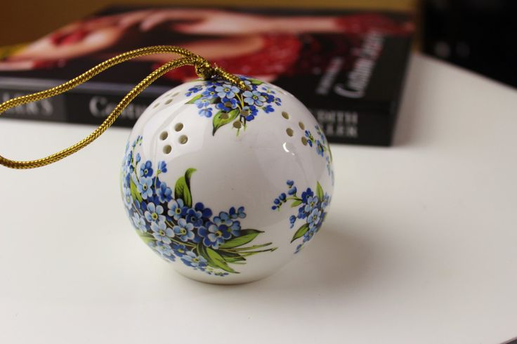 Vintage Royal Windsor Fine Bone China Porcelain Sachet Ball Room Closet Pomander N 286 by Jewelrin on Etsy