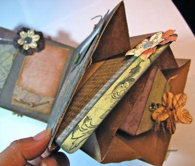 How to Make a Paper Bag Mini Scrapbook Album « showmehowto.net - video tutorials