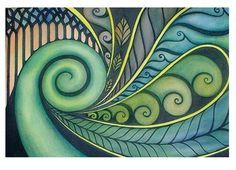 Art lessons | New Zealand Maori Koru Art Lesson Plan: Multicultural Art and