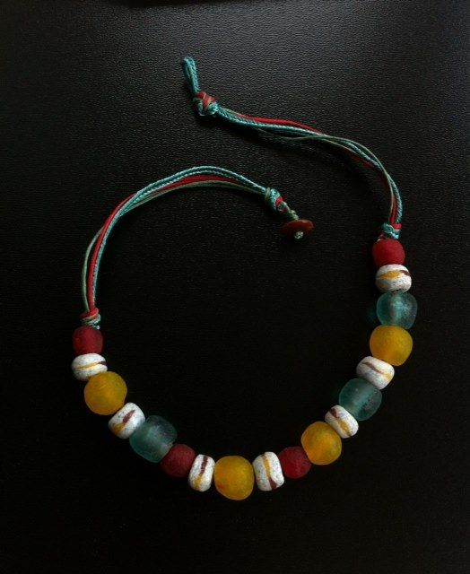 Necklace from Ghana recycled glass, Polina Usatova (2012)