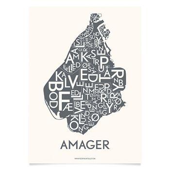 Plakat over Amager - Kortkartellet