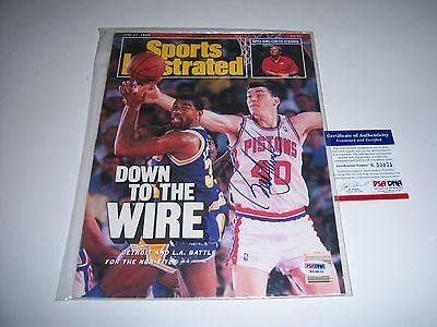 Bill Laimbeer Detroit Pistons,nba Champs Jsa/coa Signed Sports Illustrated - Autographed NBA Magazines ** For more information, visit image link.