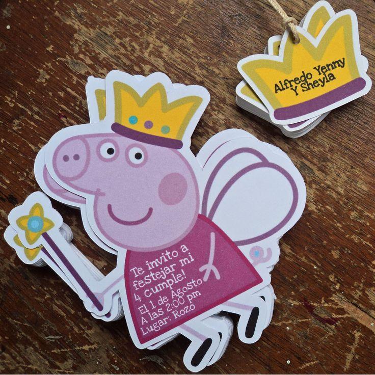 invitaciones Peppa Pig Papeleria Creativa