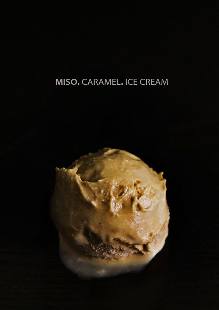 miso-caramel-ice-cream - this sounds so weird, i love it