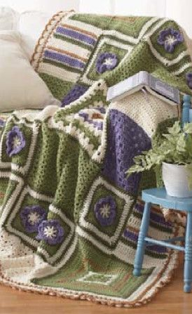 crochet square blanket Where Did The Name Granny Square Afghan Come From? (+ 5 Unique Crochet Grannyghan Patterns)