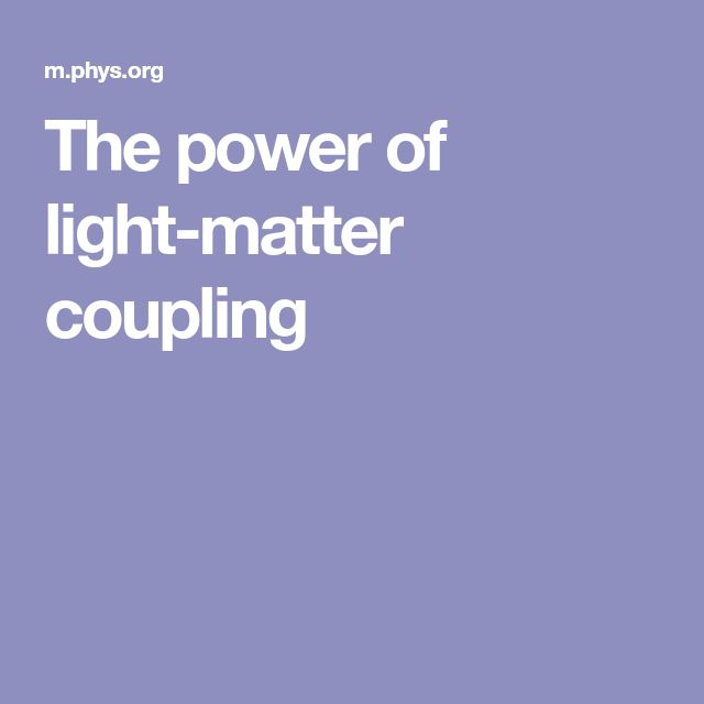 The Power Of Light Matter Coupling With Images Couples Matter Power
