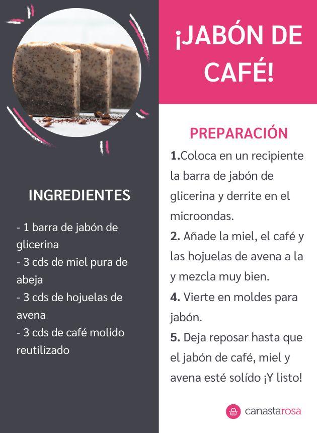 Con solo 4 ingredientes, verás lo fácil que es hacer tu propio jabón. No más café desperdiciado. Desserts, Diy, Ideas, Food, 4 Ingredients, Easy Recipes, Sweets, How To Make Soap, Make Soap
