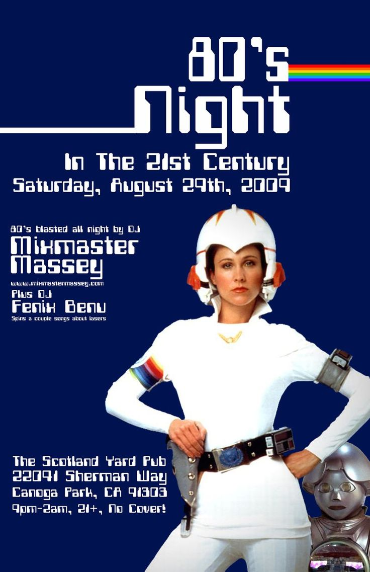 80s poster design - August 09 80s Night Poster Small Design Posters