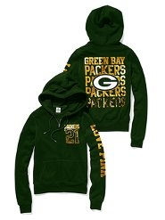PINK green bay packer hoodie
