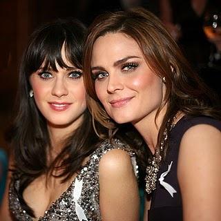 Emily & Zooey Deschanel.. my 2 favorite tv actresses!!!  Gotta love Jess & Bones!