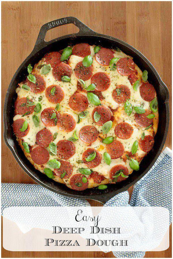 Easy Deep Dish Pizza Dough Recipe Deep Dish Deep Dish Pizza