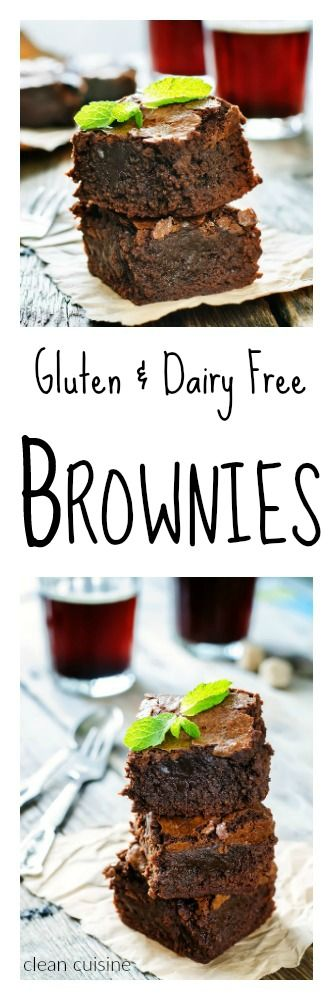 Clean Dessert Recipe for Gluten and Dairy Free Brownies (made with Cassava flour!) ---clean cuisine