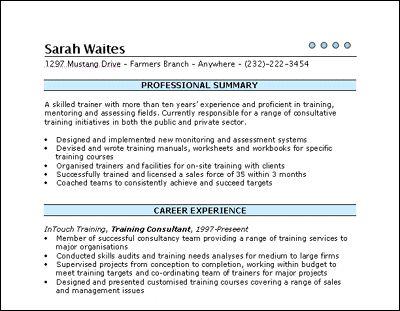 curriculum vitae - Successful Resume