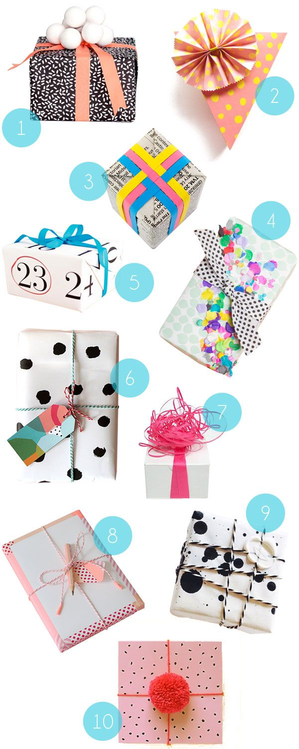 Wrapping Inspiration No. 2 - Oh Happy Day!