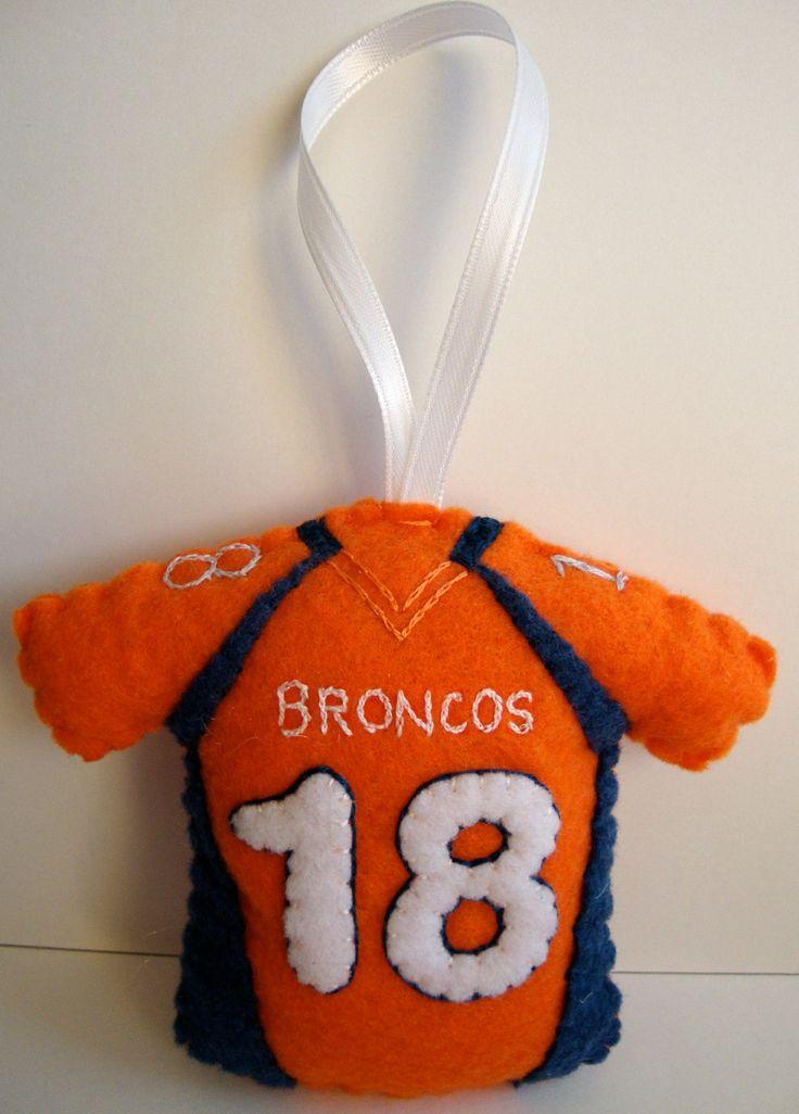 Personalized NFL Jersey Felt Ornament. $20.00, via Etsy.