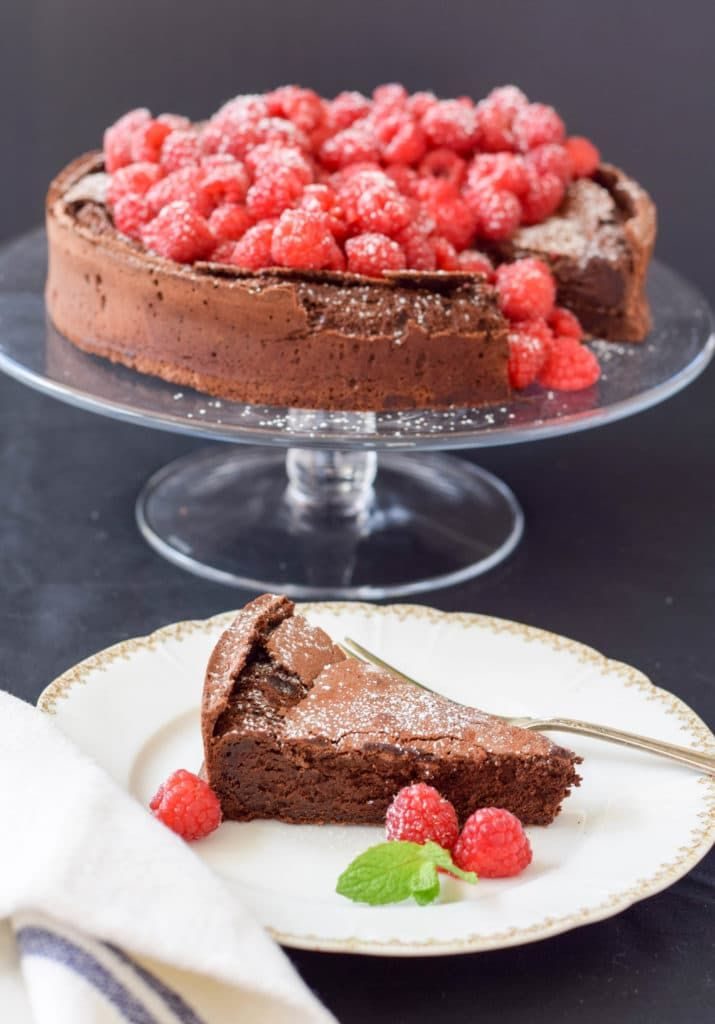 A grain and gluten-free chocolate cake for Passover or anytime you want a decadent chocolate dessert!