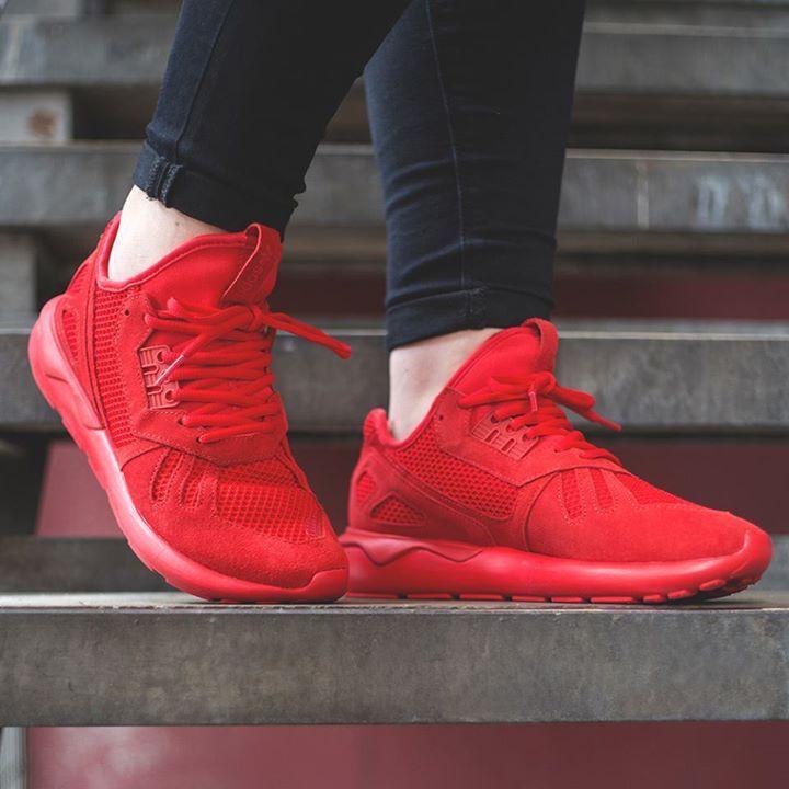 adidas tubular womens red