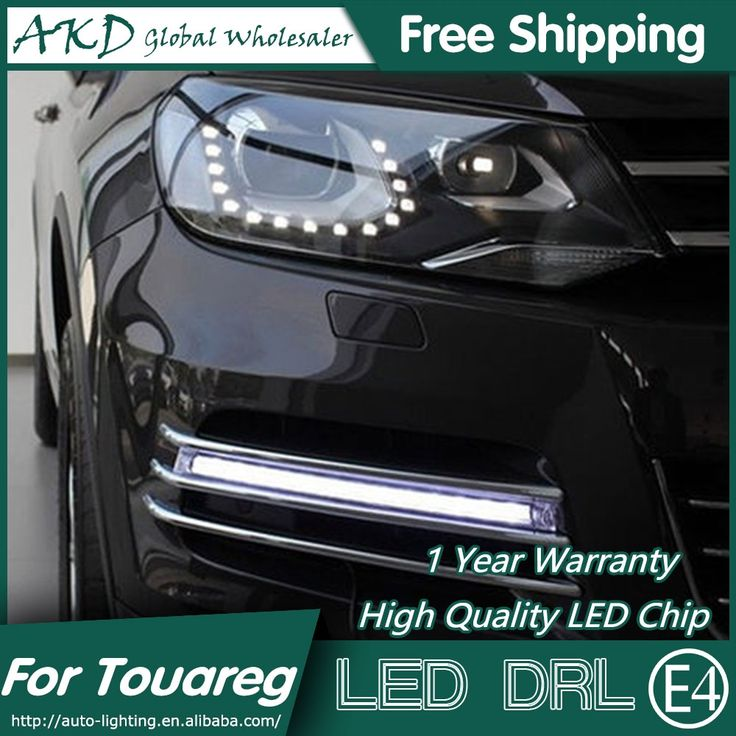 158.00$  Buy now - http://alirhi.worldwells.pw/go.php?t=32634810186 - AKD Car Styling for VW Touareg LED DRL 2010-2013 Touareg LED Daytime Running Light Fog Light Signal Parking Accessories 158.00$