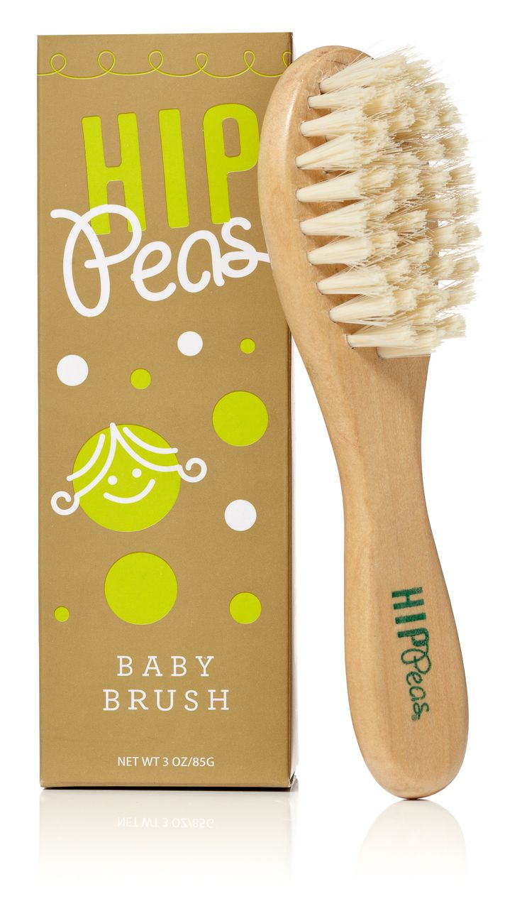 Say bye-bye to bedhead, baby! Hip Peas Wooden Baby Brush gently grooms your precious tot's locks and helps tame fine baby flyaways. Our eco-friendly brush is designed for baby's comfort and will leave that sweet little head healthy with silky, shiny tresses. Natural wooden handle and cruelty-free bristles are safe and gentle for even the littlest sweet pea!