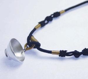Little #Tea Bowl, #Jewelry, #Pendant, #Charm, Handmade Tea Pot Silver Necklace.  I made when I was in graduate school.   www.etsy.com/shop/TITASY