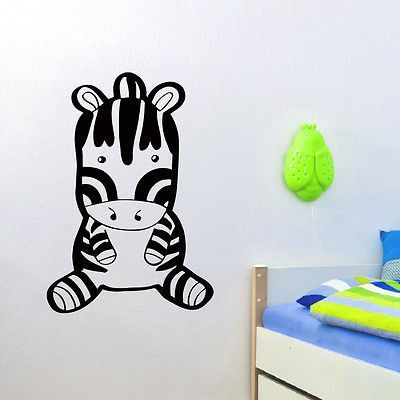 WALL DECAL VINYL STICKER ANIMAL ZEBRA BABY ROOM NURSERY DECOR SB869