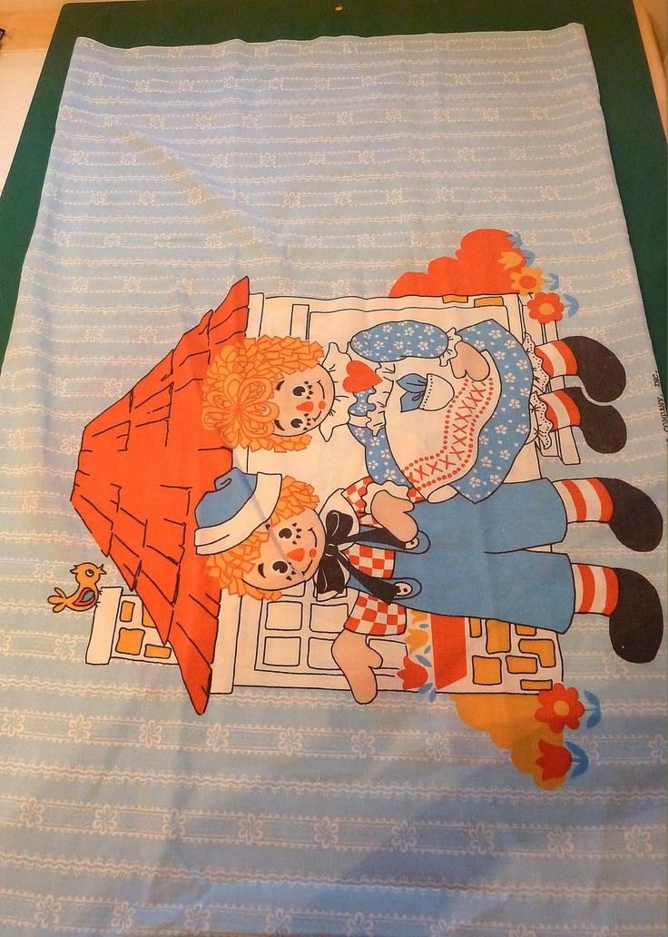 Ragged Ann and Andy Vintage Pillow Case by SouthamptonCreations on Etsy