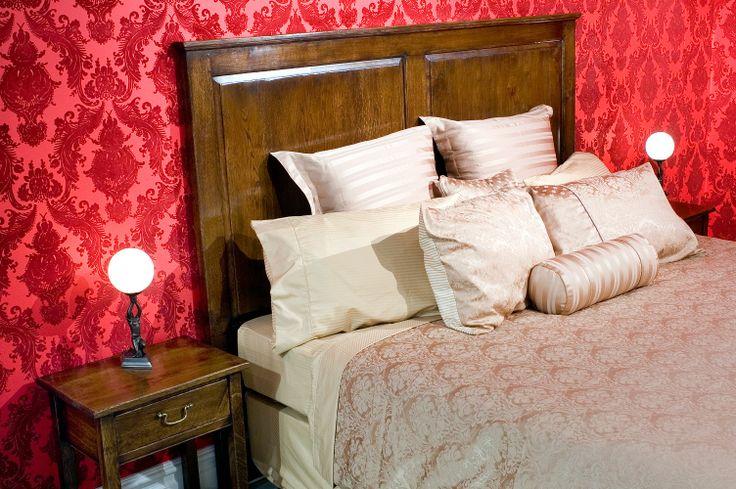 French oak Headboard and Bedside - French polish finish