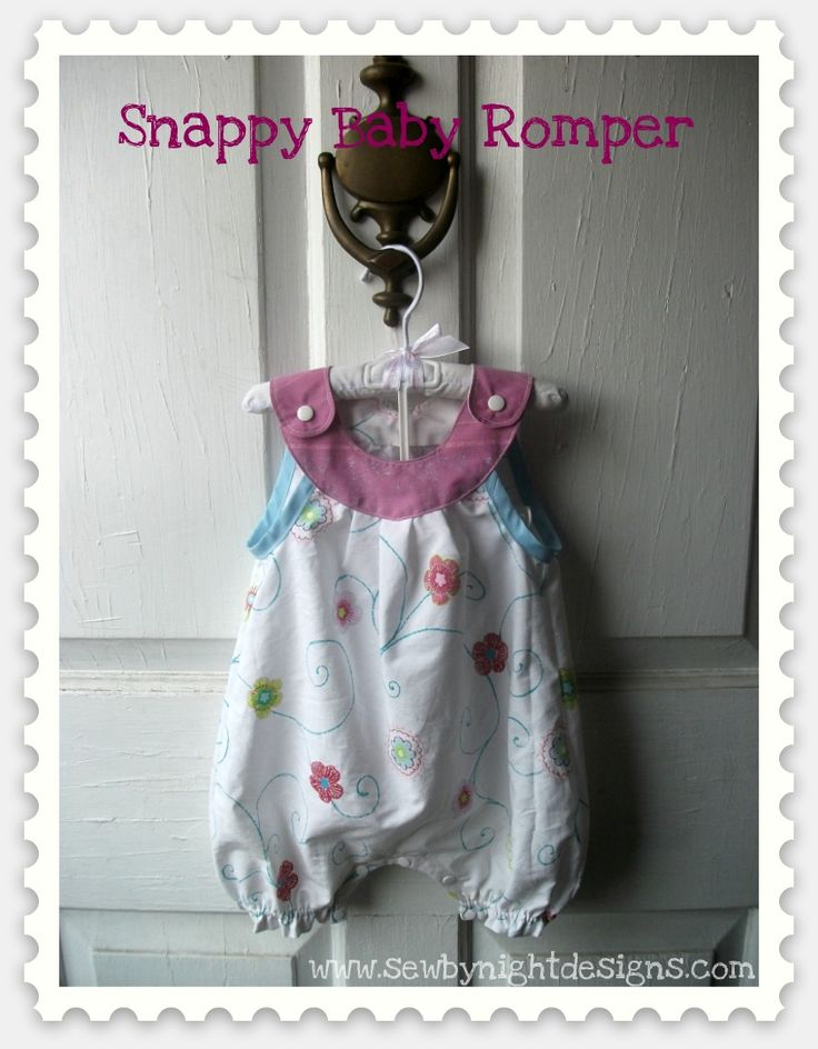 Sew By Night Designs Blog: Tutorial: Snappy Baby Romper (Pattern)