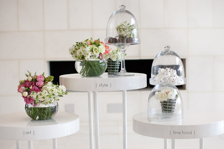 We love this idea for a wedding reception set-up at The Gallery