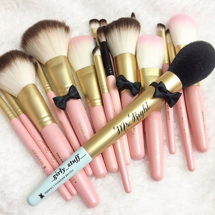 ... perfect powder brush along with other toofaced luxury makeup brushes