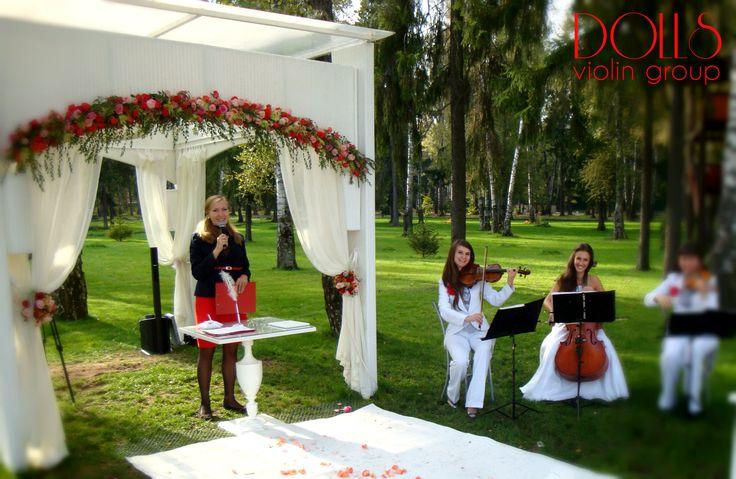 Струнное трио Violin Group DOLLS - свадьба в отеле Мона.