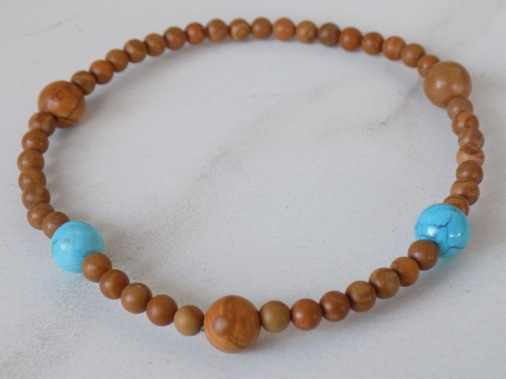 4MEN-Wood Jasper Harmony Stretchy Bracelet. 4mm with 8mm wood jasper and turquoise howlite accent beads. #4men https://www.etsy.com/listing/215185809/4men-wood-jasper-harmony-stretchy?ref=shop_home_active_3