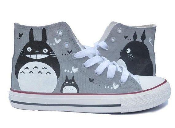 Doraemon Canvas shoes hand paint shoes high top canvas Converse Converse  sneakers,converse shoes, men shoes ,Child Shoes
